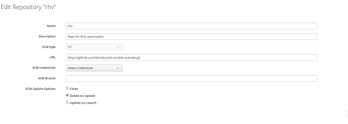 CloudForms 4 5 RHV 4 1 Management by Ansible Automation